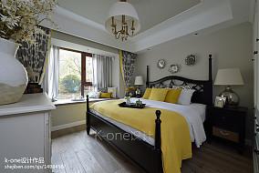 热门84平米二居卧室美式装修设计效果图片