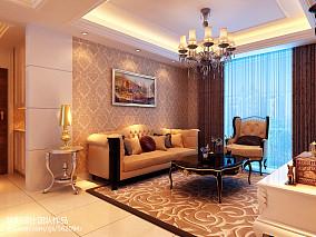 热门86平米二居客厅欧式装修图片