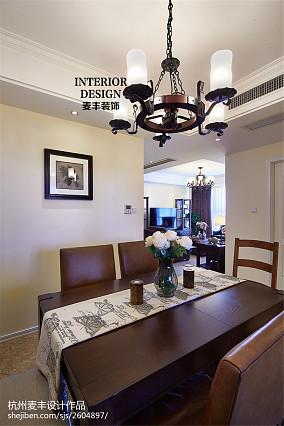 热门100平米三居餐厅美式装饰图片欣赏