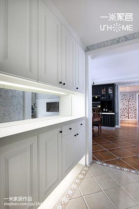 轻奢80平美式三居设计图三居美式经典家装装修案例效果图
