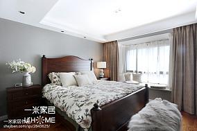 2018面积102平美式三居卧室装修设计效果图片三居美式经典家装装修案例效果图