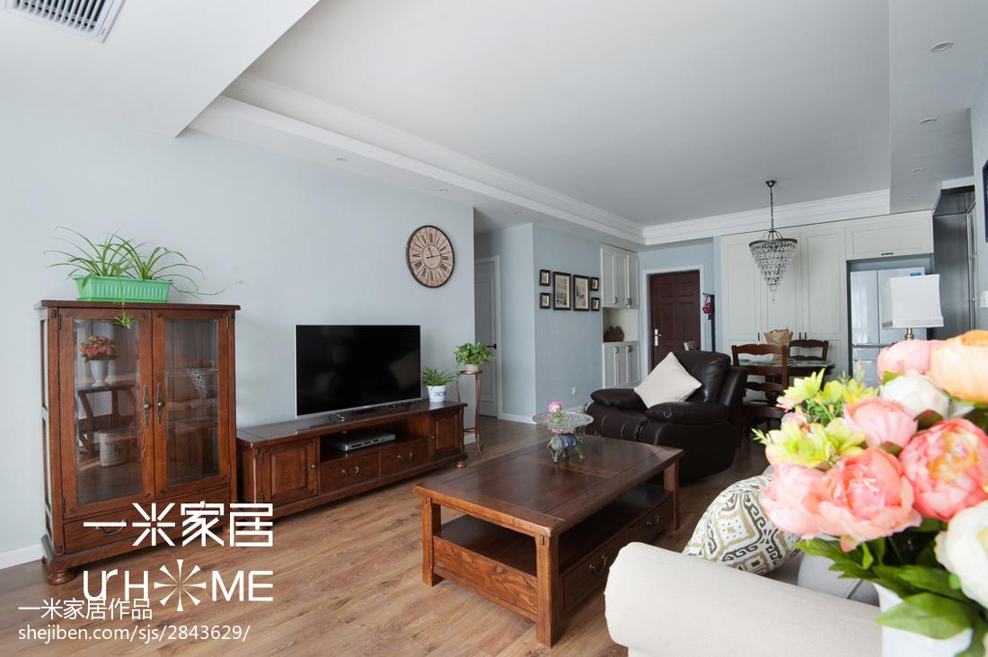 精美107平米三居客厅美式装修效果图片欣赏客厅