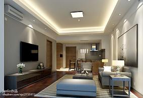 2018精选79平米现代小户型客厅效果图片