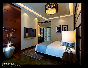 热门面积113平别墅卧室新古典装修欣赏图片