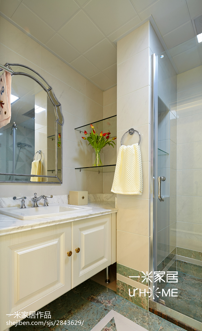 精致152平欧式四居装修装饰图卫生间欧式豪华卫生间设计图片赏析