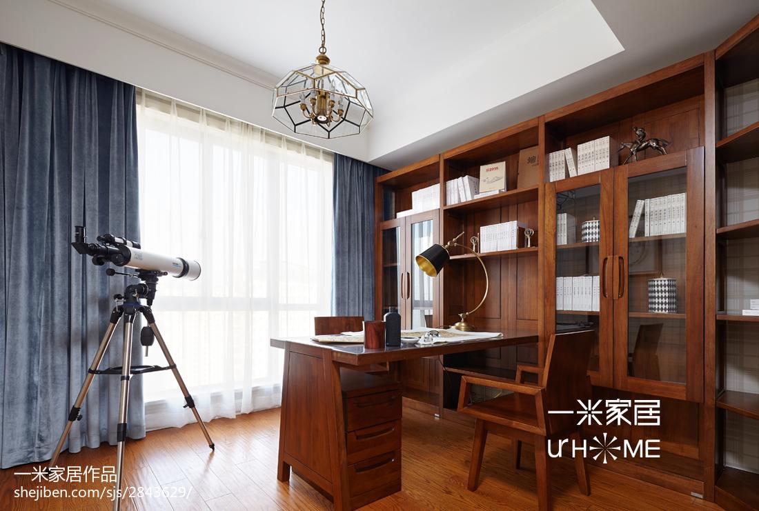 精美四居书房欧式装修效果图片四居及以上欧式豪华家装装修案例效果图