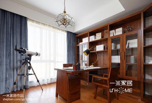 精美四居书房欧式装修效果图片功能区窗帘四居及以上家装装修案例效果图