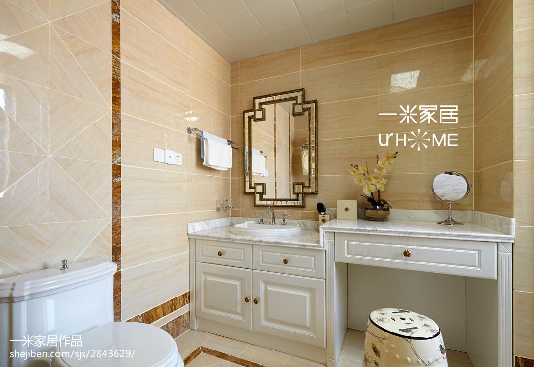 华丽159平欧式四居美图卫生间马桶2图欧式豪华卫生间设计图片赏析