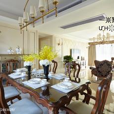 精选面积143平欧式四居餐厅效果图片