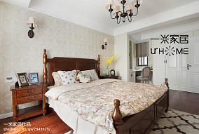2018精选复式卧室美式装修设计效果图片151-200m²复式美式经典家装装修案例效果图