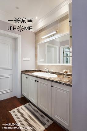 面积119平复式卫生间美式效果图片欣赏