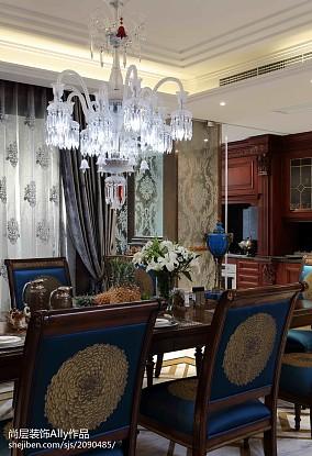 2018126平米欧式别墅餐厅装修设计效果图片欣赏