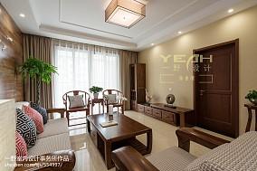 精选102平米三居客厅中式装饰图片