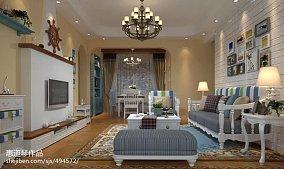 精选面积96平地中海三居客厅装修实景图片欣赏