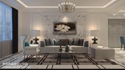 二居客厅欧式实景图二居欧式豪华家装装修案例效果图