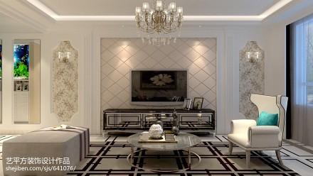 精选79平米二居客厅欧式装修设计效果图片大全