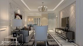 平米二居客厅欧式装修图家装装修案例效果图