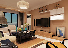 201876平方二居客厅混搭装修欣赏图片
