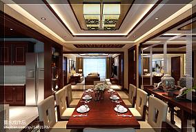 明亮389平中式别墅餐厅实拍图厨房设计图片赏析