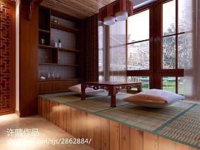 201872平米二居阳台中式装饰图片欣赏