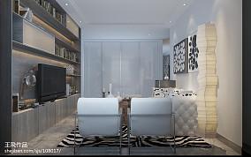 80平米现代小户型客厅装修效果图片