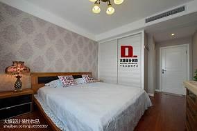 2018126平米四居卧室混搭效果图片大全
