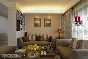 热门大小139平混搭四居客厅装修欣赏图