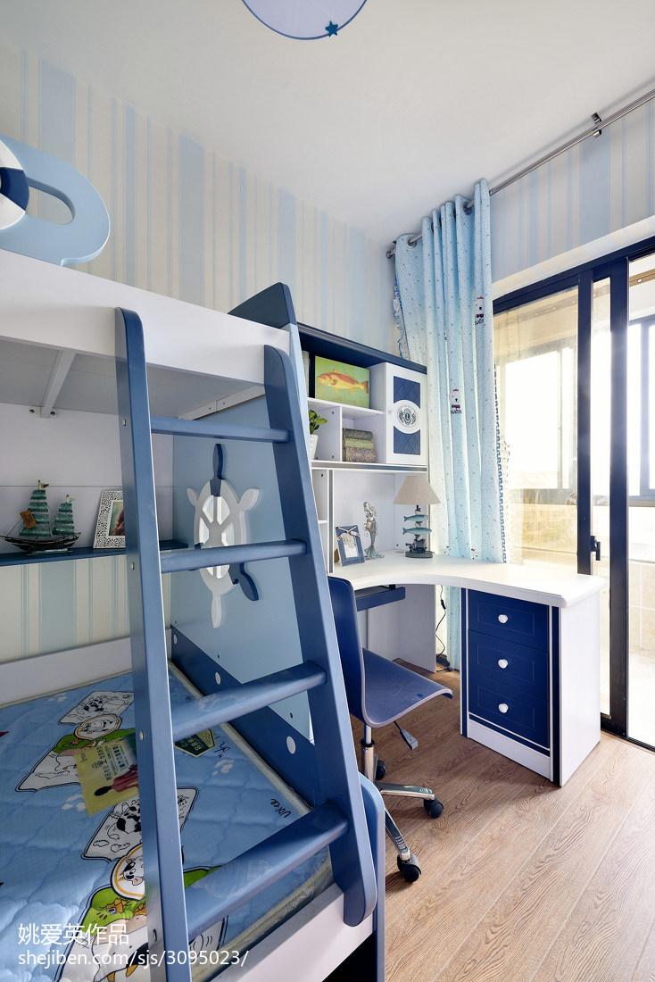 地中海风格儿童房装修设计卧室地中海卧室设计图片赏析