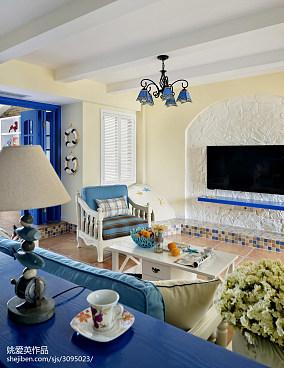 地中海风格客厅吊顶装修设计客厅地中海客厅设计图片赏析
