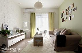 温馨68平田园二居装潢图卧室美式田园设计图片赏析