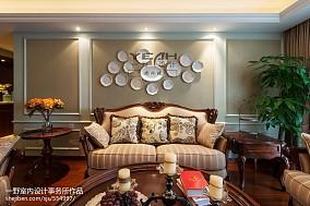 精选125平米四居客厅欧式效果图