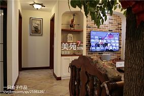 热门田园三居客厅装修欣赏图片大全