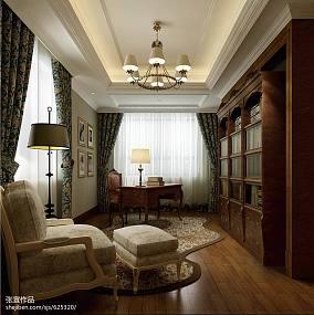 精选127平方欧式别墅书房效果图片大全