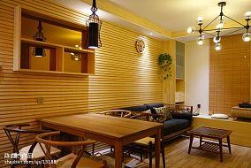 2018面积90平小户型客厅东南亚装修设计效果图片欣赏
