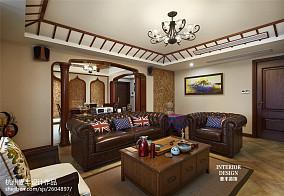 东南亚风格客厅隔断装修设计