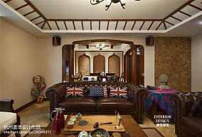 热门111平米四居客厅东南亚装修设计效果图片欣赏
