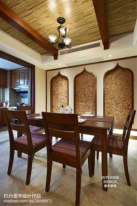 东南亚风格餐厅吊顶装修设计大全
