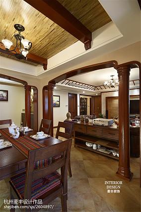 2018四居餐厅东南亚装修设计效果图片