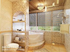 精美面积128平别墅卫生间欧式实景图片