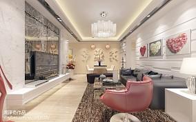 精美71平米欧式小户型客厅装修实景图