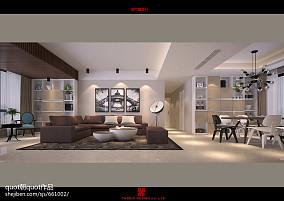 简约现代130平米四居室效果图