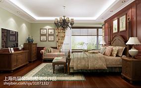精选面积135平别墅卧室现代欣赏图