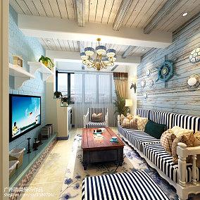 熱門88平方二居客廳地中海裝修效果圖片欣賞