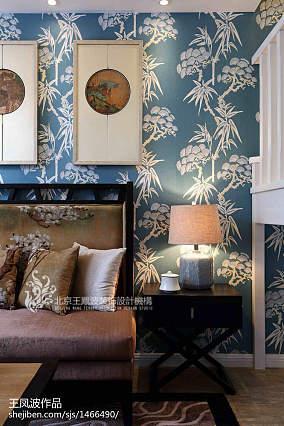2018精选中式客厅装修图片欣赏样板间中式现代家装装修案例效果图