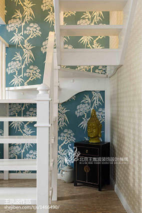 精致348平中式样板间效果图片大全样板间中式现代家装装修案例效果图