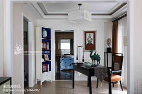 精美267平中式样板间书房效果图欣赏样板间中式现代家装装修案例效果图