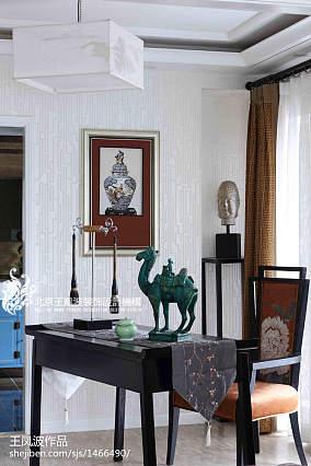 精美中式书房实景图片欣赏样板间中式现代家装装修案例效果图