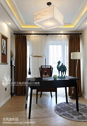 精选书房中式装修效果图片欣赏样板间中式现代家装装修案例效果图
