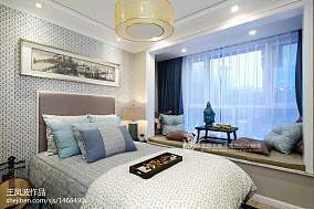 精美中式卧室装修欣赏图样板间中式现代家装装修案例效果图