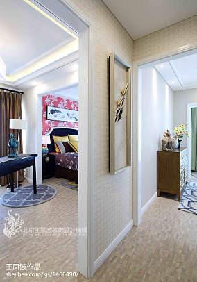 2018中式卧室装修欣赏图片样板间中式现代家装装修案例效果图
